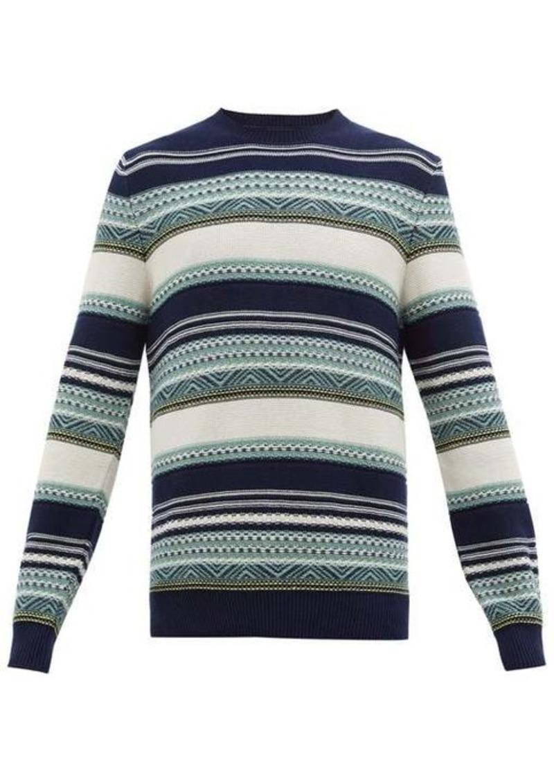 A.P.C. Jacquard-stripe cotton sweater