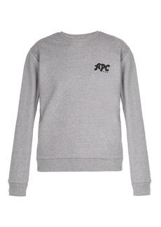 A.P.C. Jacques logo cotton-jersey sweatshirt