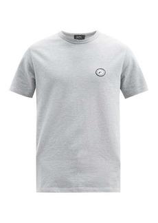 A.P.C. Jay logo-appliqué cotton-piqué T-shirt