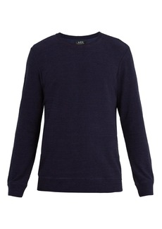 A.P.C. Jeremie French terry-towelling sweatshirt