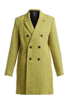 A.P.C. Joan double-breasted wool-blend coat