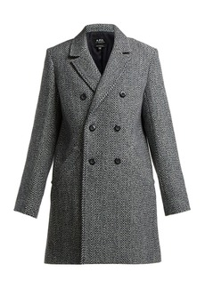 A.P.C. Joan herringbone wool-blend coat