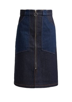 A.P.C. Joe high-rise denim midi skirt