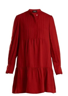 A.P.C. Jones long-sleeved striped crepe dress