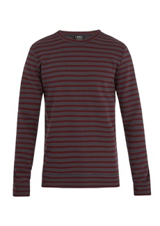 A.P.C. Joseph striped cotton sweatshirt