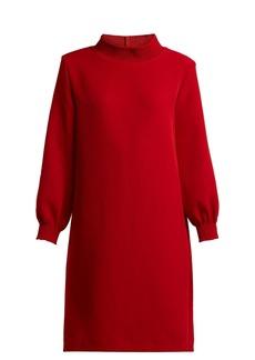 A.P.C. Julie smocked stretch-crepe mini dress