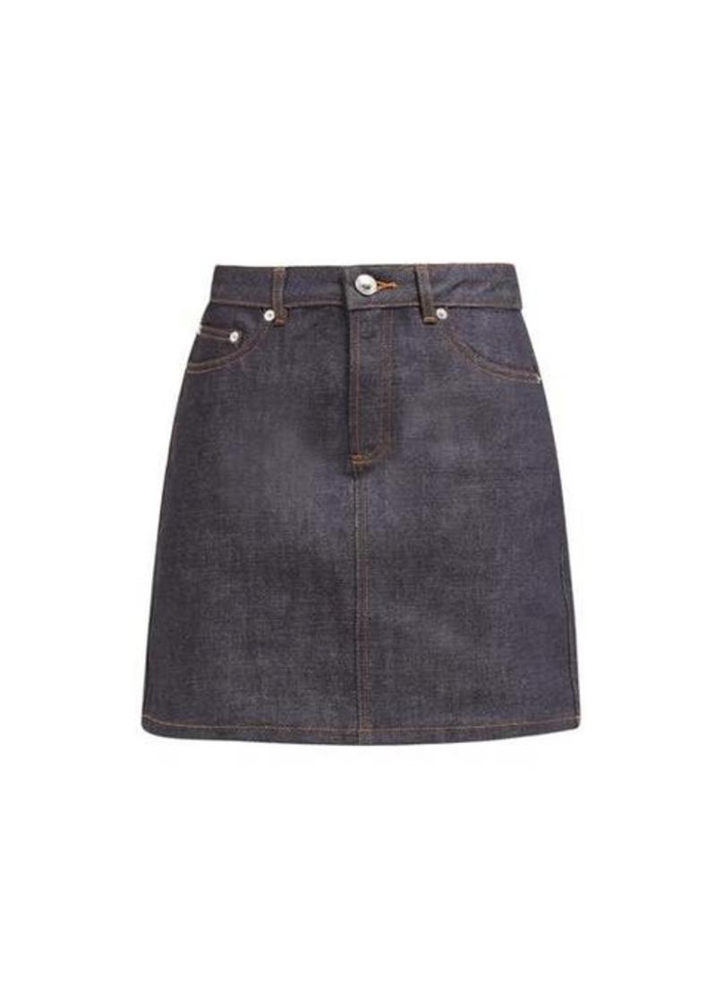 A.P.C. Jupe Standard raw-denim mini skirt