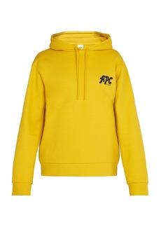 A.P.C. Keith cotton hooded sweatshirt