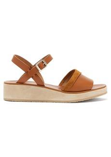 A.P.C. Kelia leather & suede sandals