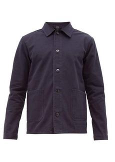 A.P.C. Kerlouan washed cotton-gabardine overshirt