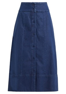 A.P.C. Knight button-through denim skirt