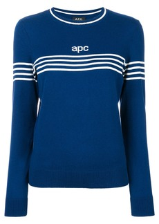 A.P.C. knitted logo jumper - Blue