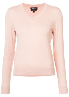 A.P.C. knitted long sleeved top - Pink & Purple