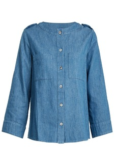 A.P.C. Lea cotton-chambray top