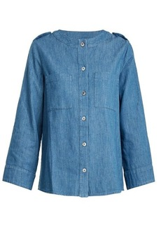 A.P.C. Lea cotton-chambray top