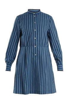 A.P.C. Lili striped cotton-twill shirtdress