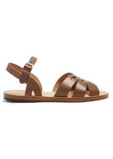 A.P.C. Lilia laser-cut leather sandals
