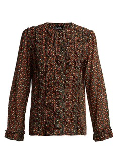 A.P.C. Lillian cherry-print silk blouse