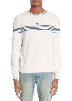 A.P.C. Logo Cotton & Cashmere Crewneck Sweater