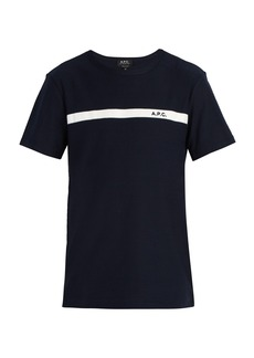 A.P.C. Logo-detail cotton-jersey T-shirt