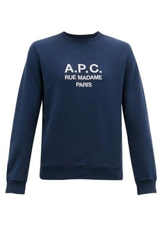 A.P.C. Logo-embroidered cotton-jersey sweatshirt