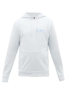 A.P.C. Hooded logo-print cotton-jersey sweatshirt