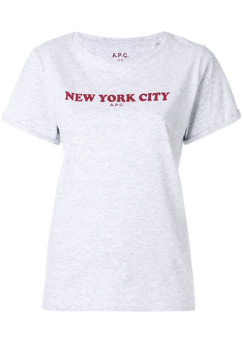 A.P.C. logo print T-shirt - Grey