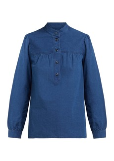 A.P.C. Loula cotton-chambray blouse