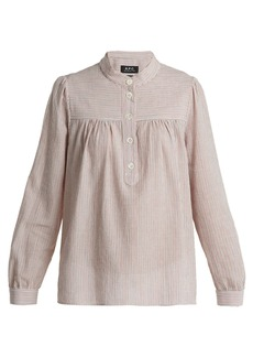 A.P.C. Loula striped cotton blouse
