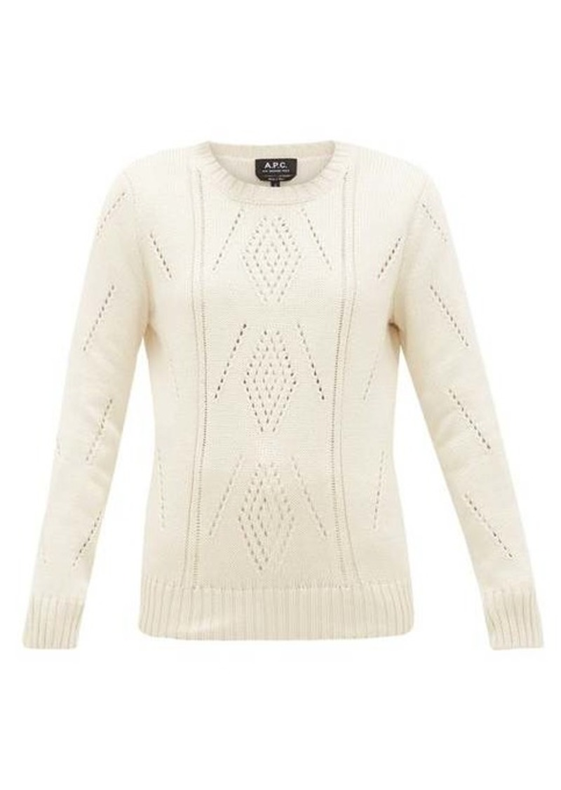A.P.C. Lucrecia pima-cotton sweater