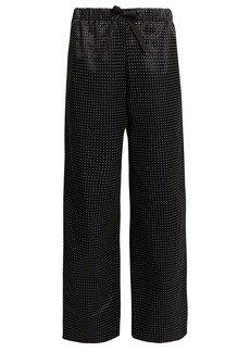 A.P.C. Lucy wide-leg dot-print cotton-blend trousers
