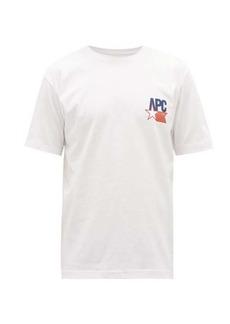 A.P.C. Marcellus logo-print cotton T-shirt