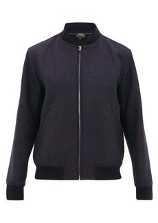 A.P.C. Mathieu wool-blend bomber jacket