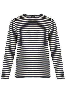 A.P.C. Matt striped cotton T-shirt