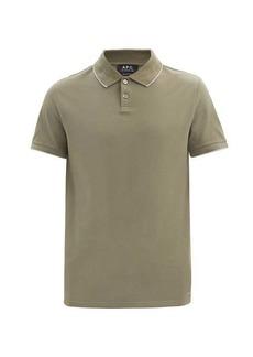 A.P.C. Max cotton-piqué polo shirt