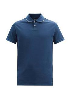 A.P.C. Max trimmed cotton polo shirt