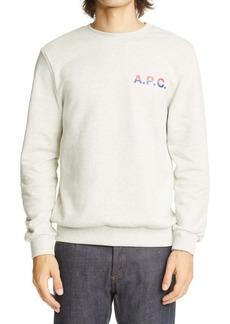 A.P.C. Michel Logo Crewneck Sweatshirt
