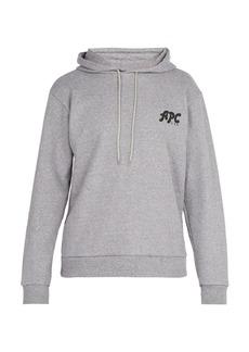 A.P.C. Michel logo-print cotton-blend hooded sweatshirt