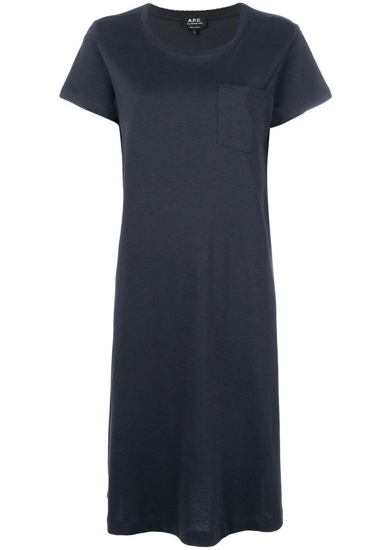 A.P.C. mid-length T-shirt dress - Black