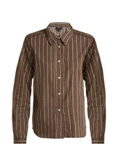 A.P.C. Mike cotton and silk-blend shirt
