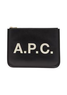 A.P.C. Morgane logo-print vinyl pouch