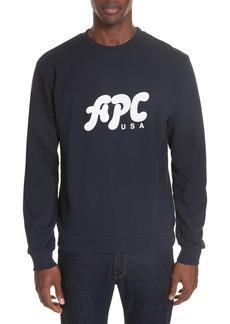 A.P.C. New Logo Crewneck Sweatshirt