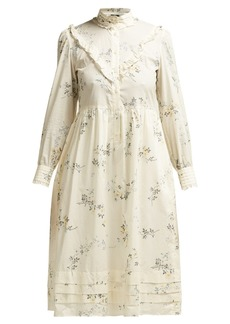 A.P.C. Nicks floral-print ruffled cotton dress