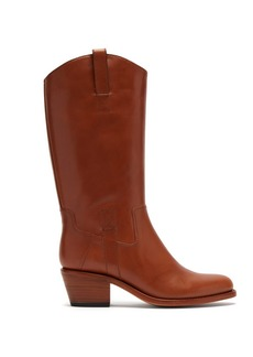 A.P.C. Nina Western leather boots