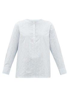 A.P.C. Nine striped cotton-blend poplin shirt