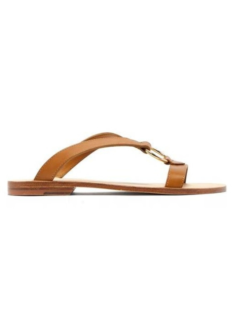 A.P.C. Norma cross-over leather slides