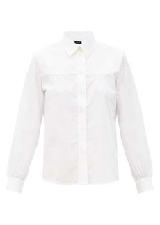 A.P.C. Pascale gathered cotton-poplin shirt