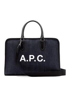 A.P.C. Paul denim weekend bag