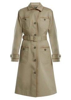 A.P.C. Pauline point-collar cotton-blend trench coat