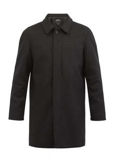 A.P.C. Pete point-collar wool-blend coat